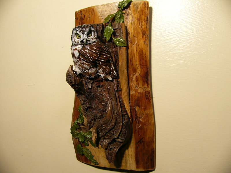 Boreal Owl sculpture