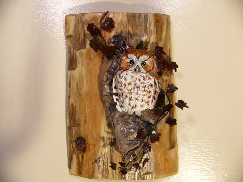 Eastern Screech Owl sculpture