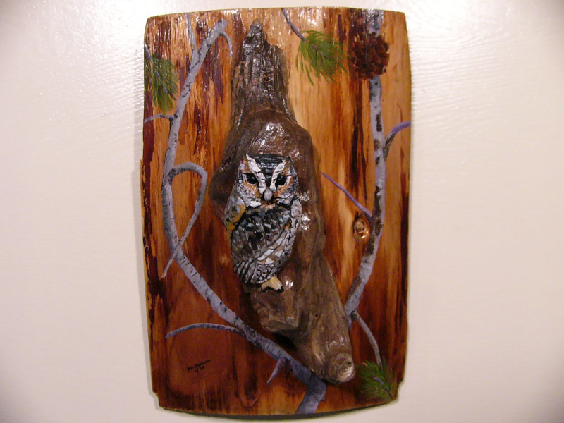 Flammulated Owl sculpture
