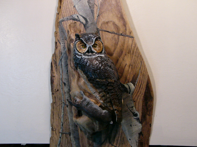 Great Horned Owl sculpture