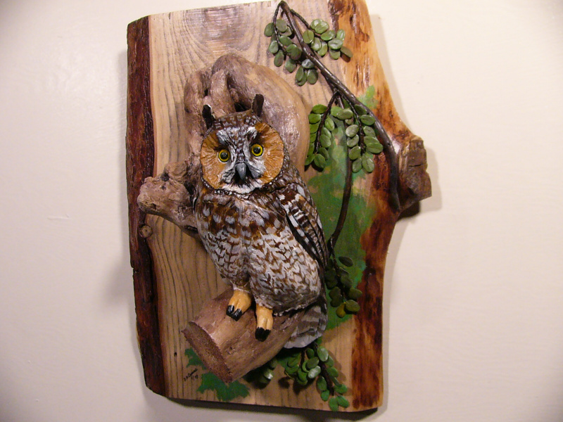 Long-eared Owl sculpture