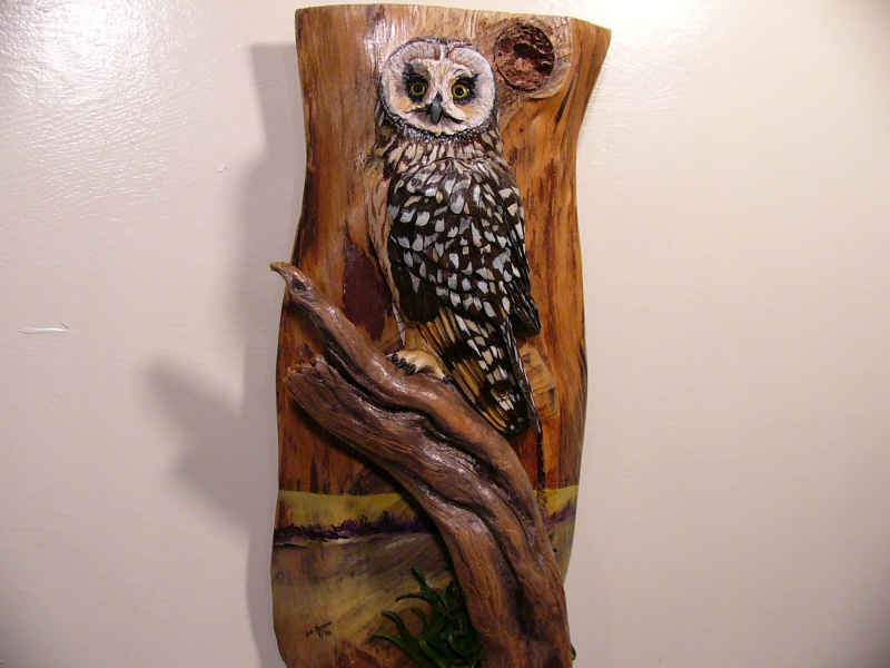 Short-eared Owl sculpture