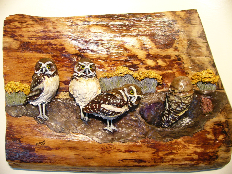 Burrowing Owls sculpture