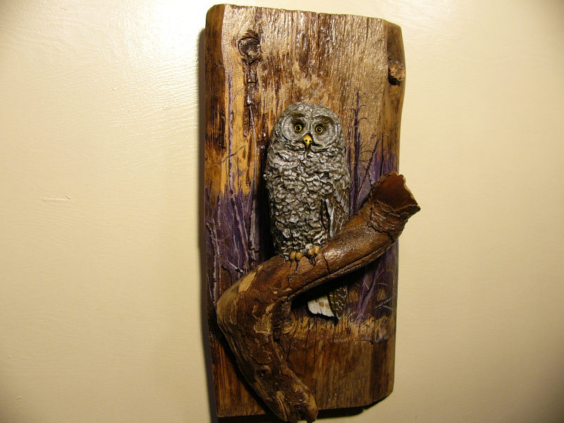 Great Grey Owl sculpture