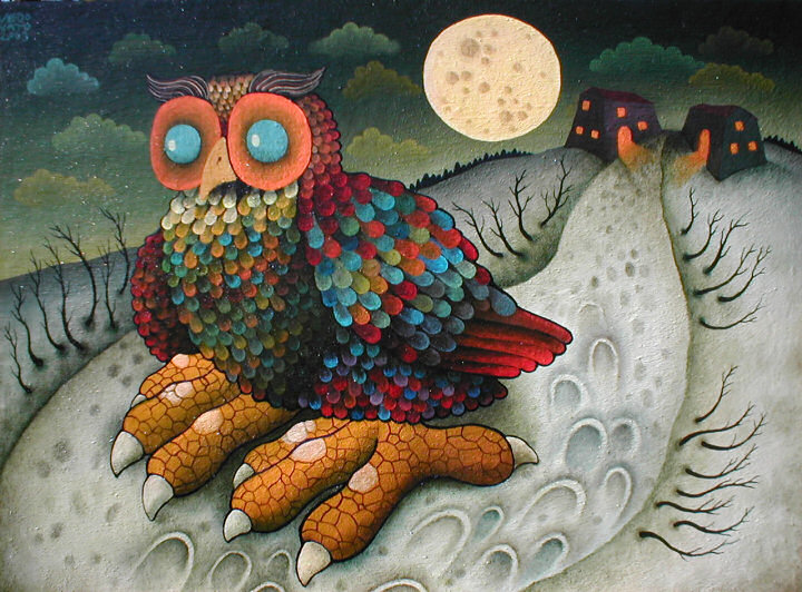 Guido Vedovato Owl Paintings by Guido Vedovato The Owl Pages