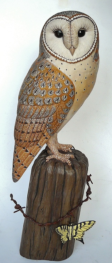 Barn Owl carving