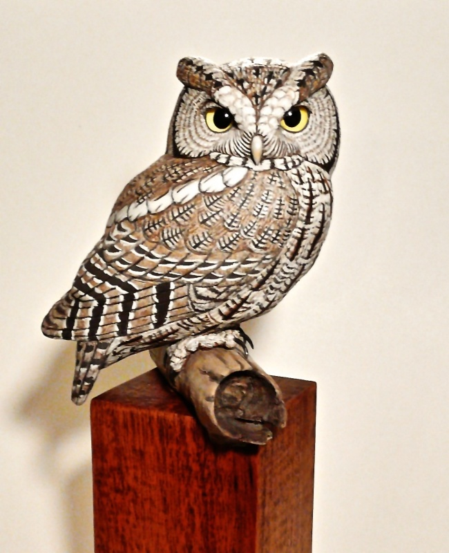 Eastern Screech Owl carving