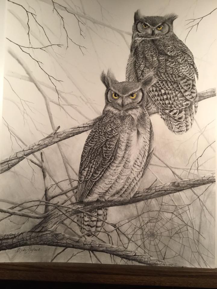 Great Horned Owl artwork
