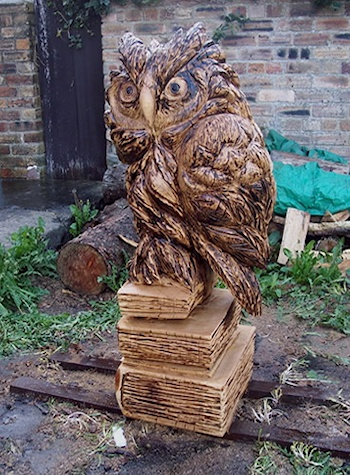 owl chainsaw sculpture
