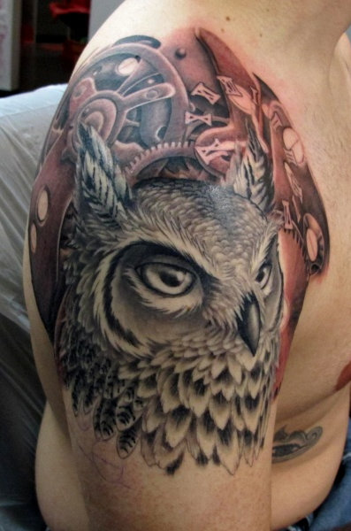 Clockwork Owl tattoo